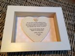 Shabby Personalised Chic Box Frame Gift For Mother Of The groom. Mum Mom Wedding